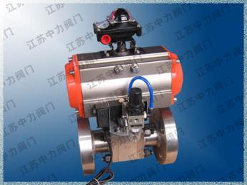 不銹鋼氣動法蘭球閥Q641N