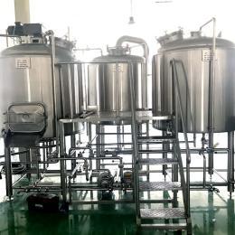 小型酒厂啤酒设备,精酿啤酒机械设备厂家