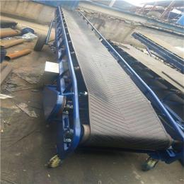 移动式粮食输送带 可升降爬坡装车输送机