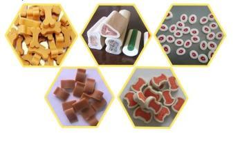 鑫貝發衡陽小鈣骨寵物咬膠生產線潔齒磨牙狗狗咬膠加工設備