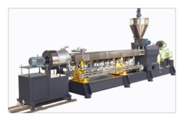 PLA生物降解母粒造粒機,PLA生物降解母粒造粒機械(照片)