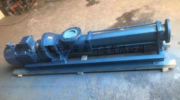 带减速机型低转速进口工业污泥螺杆泵