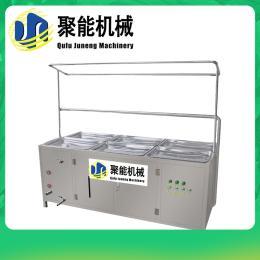 全自动腐竹机生产视频 山东曲阜聚能豆制品机械设备 酒店腐竹生产机