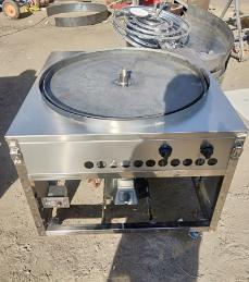 大饼子锅 玉米面转锅 四合面大饼子锅 蒸烤一体机 粗粮饼锅送技术