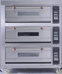 長期供應新南方大型商用三層六盤燃氣烤箱,液化氣面包蛋糕蛋撻烤箱