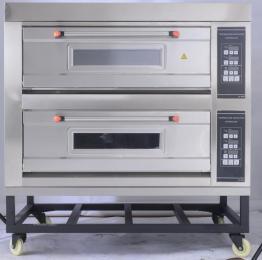 長期供應面包房商用雙層蛋糕大烤箱兩層四盤