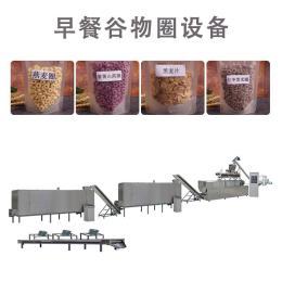 即食黑米早餐麦片加工设备 燕麦谷物圈生产线