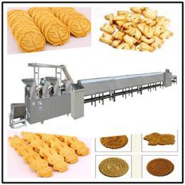 lz动物形状饼干生产设备枕式夹心饼干全自动理料包装生产线