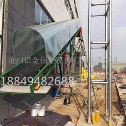 二樓倉庫布料輸送機 液壓架高流水線 裝卸車輸送線