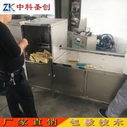 广汉自动加热素鸡成型机 方形圆形素鸡机器 全自动素鸡机现场试机