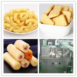 lz休闲食品生产线非油炸夹心米果机械 糙米卷能量棒加工设备厂家直销