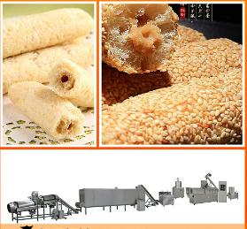 德州小型休闲食品膨化机 夹心米果生产设备 膨化食品生产线