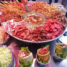 网红小吃口袋馍锅,手工布袋馍专用配菜锅