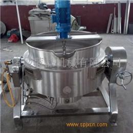 枇杷膏熬制加工设备 自动控温夹层锅 商用电加热搅拌夹层锅
