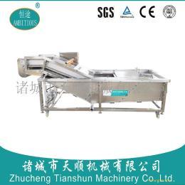 厨房绿色蔬菜清洗设备/高效气泡筛板网清洗机