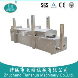 山东恒途TSZQ-40型香菇酱天燃气全自动油炸机/烧天然气的全自动油炸生产线机器