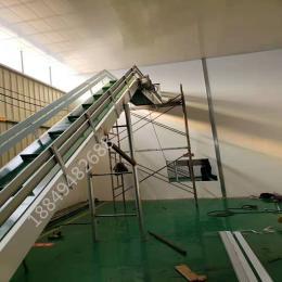 食品刮板输送机 爬坡皮带输送机 悬挂食品流水线