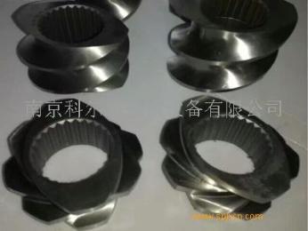 6542料造粒機雙螺桿螺套,造粒機螺紋塊/南京科爾特