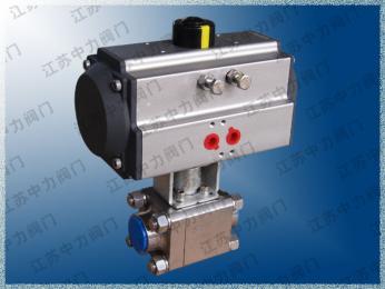 气动高压不锈钢三片式焊接球阀