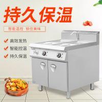众兴落地式燃气汤池连柜保温餐车商用多功能保温台菜饭台