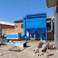 翻砂厂混砂机除尘器排尘系统采用半密闭罩
