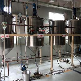小型核桃油厂全套生产机器 核桃油脱酸脱脂精炼机 核桃油一级精炼