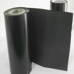 避光黑色PET原膜亮黑色哑黑色黑色聚酯薄膜可分切零售双电晕