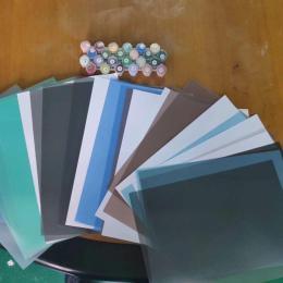 薄片贴片用黑色白色透明拉丝纹PC薄膜片材卷材
