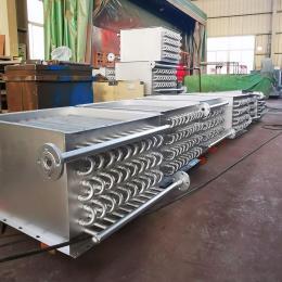 翅片管蒸汽換熱器定制,網帶烘干機蒸汽換熱器加工,翅片烘干散熱器-合肥寬信
