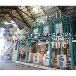 每天 50 吨玉米玉米粉磨机玉米成品制造机谷物磨粉机