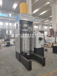 新款可可籽液压式大型压榨设备,印楝籽快速立式榨油机,山东强兴液压榨油机