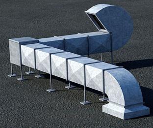 中央空调通风管道选用白铁风管效果 ?