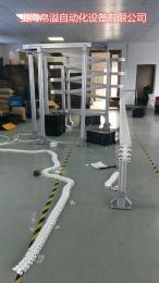 果汁灌装机配套设备456585105150175柔性平板循环提升塑料链板输送带