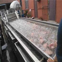 义康牌 牛排沥血化冻机 全自动羊五花肉解冻机 鸡架清洗解冻线
