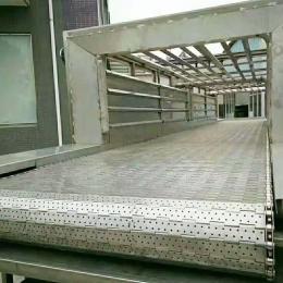 食品链板输送机不锈钢304材质食品烘焙输送线