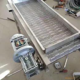 链板式输送机不锈钢板式输送机打孔链板传送带机