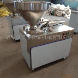 商用玉米肠液压灌肠机 烤肠加工设备 山东腊肉肠灌肠机 义康牌