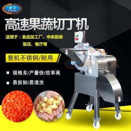 水果切丁机高速果蔬切丁机自动切芒果丁切菠萝丁的机器