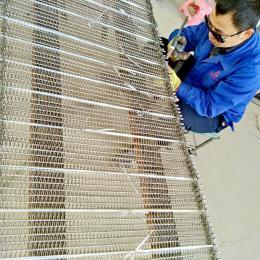 304不锈钢网带食品加工生产线专用输送带防腐蚀耐高温