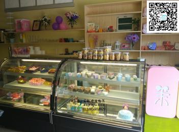厂家供应蛋糕冷藏展示柜后开门冷藏柜弧形凉菜熟食展示柜