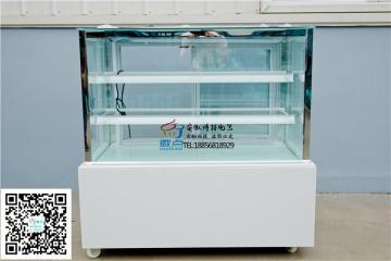 徽点供应奶茶店水果冷藏柜双层直角蛋糕保鲜柜日式甜品展示柜