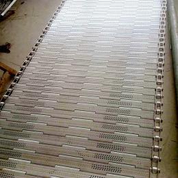 不銹鋼打孔鏈板清洗機鏈板防腐蝕材質規格定制