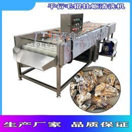 大型牡蛎清洗机  洗海蛎子毛刷机设备