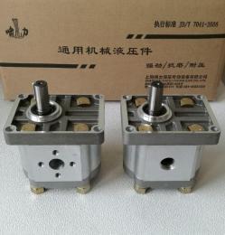 CBN-F316LHL 花键左旋齿轮泵 螺纹油口齿轮泵