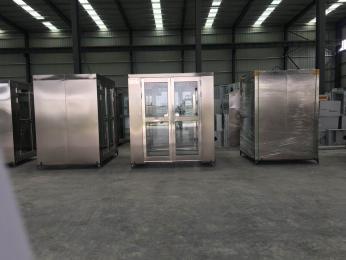 湖北不锈钢风淋室厂家,武汉电子厂净化车间工程施工案例