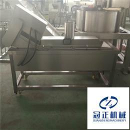 冠正机械全自动连续式油炸生产线