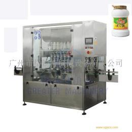 黄豆酱自动灌装机 搅拌调味酱灌装机
