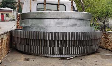 河南烘干机大齿轮生产商 烘干机滚圈加工定制