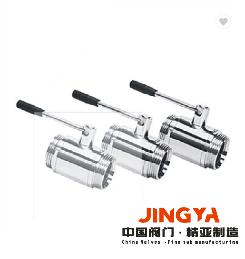 精亚新型直通球阀 卫生级直通球阀 卫生级球阀 全包球阀
