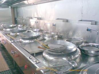 深圳餐饮店燃气炒炉双头大炒炉商用节能厨房设备厂家